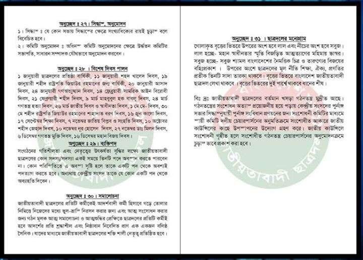 Chhatra Dal's constitution 10