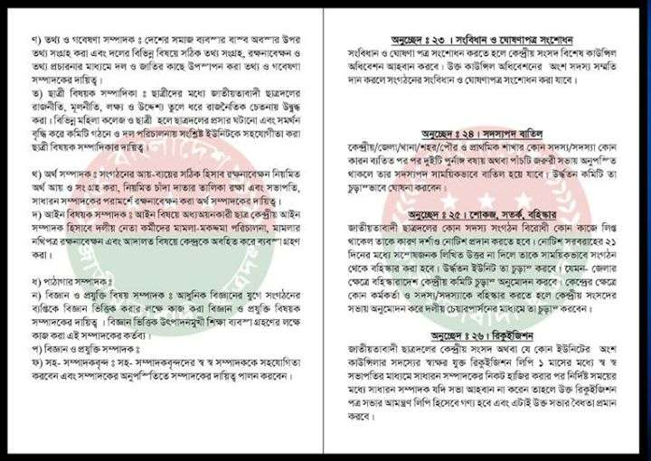 Chhatra Dal's constitution 9